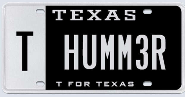 This plate was rejected by the Texas Department of Motor Vehicles in February 2013. Photo: MyPlates.com