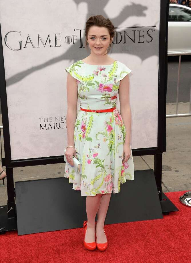 Actress Maisie Williams arrives at the premiere of HBO's Game Of Thrones Season 3 at TCL Chinese Theatre on March 18, 2013 in Hollywood, California. Photo: Jason Merritt, Getty Images / 2013 Getty Images