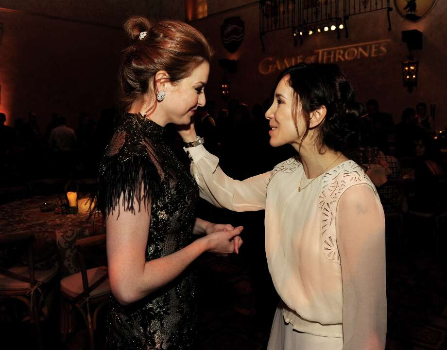 Actresses Esme Bianco (L) and Sibel Kikilli pose at the after party for the premiere of HBO's Game Of Thrones at the Roosevelt Hotel on March 18, 2013 in Los Angeles, California. Photo: Kevin Winter, Getty Images / 2013 Getty Images