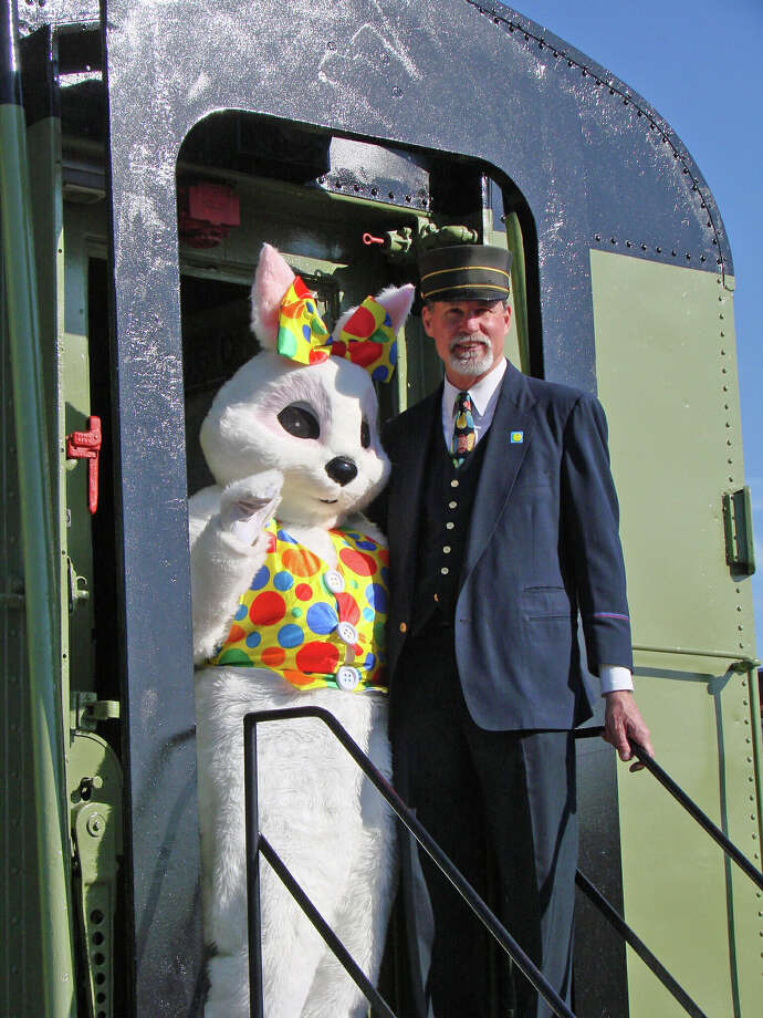 The Easter Bunny will be at the Danbury Railway Museum for his annual holiday visit this weekend, Saturday, March 23, and Sunday, March 24, as well as next weekend. Photo: Contributed Photo