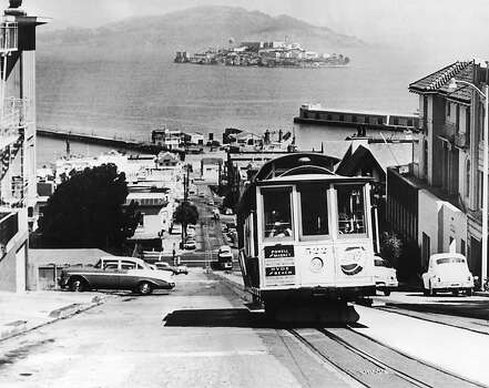 A view of Alcatraz Prison pictured from San Francisco in 1962. The Alcatraz Penitentiary was officially closed on March 21, 1963. Photo: Keystone-France, Gamma-Keystone Via Getty Images