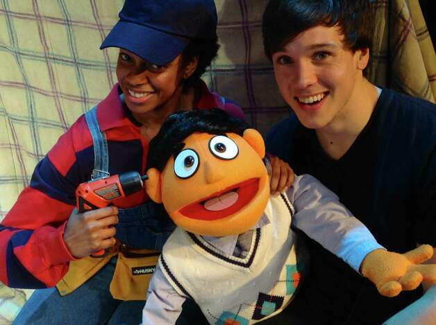 "Tiffany Nichole Greene (left) and Isaak Olson appear in ""Avenue Q."" Photo: Courtesy Jonathan Pennington"