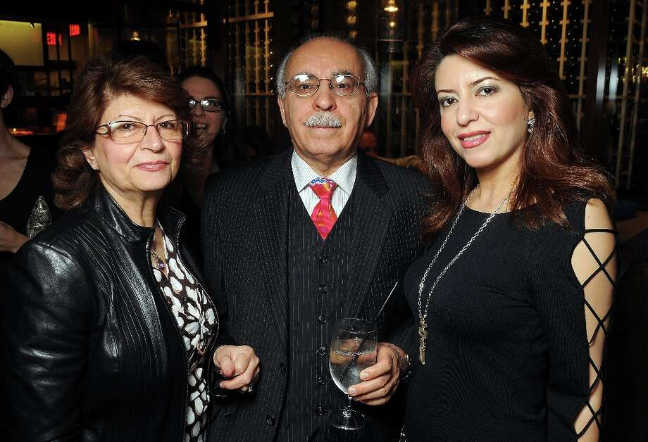 From left: Mary Mohajer, Dr. Henry Mohajer and Dr. Parissa Mohajer at the grand opening party at Del Frisco's Grille at West Ave. Thursday March 14, 2013. Photo: Dave Rossman / © 2013 Dave Rossman