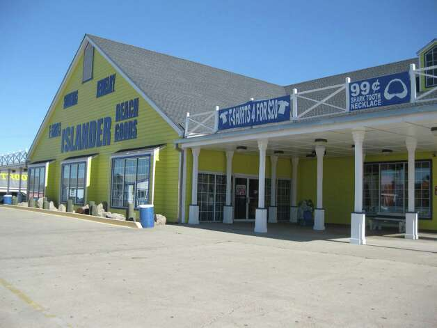 The Islander is one of many beach shops that caters to shoppers with a variety of souvenirs, clothes and beach equipment.