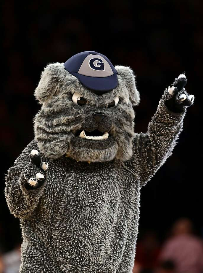 Georgetown's bulldog has a great little hat and a soft, amorphous body. Photo: Elsa, Getty Images