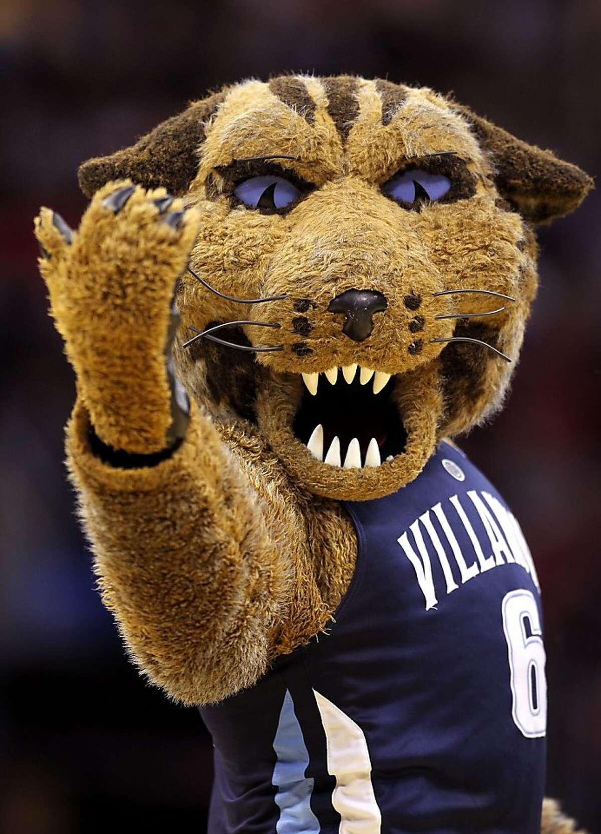 Villanova mascot Will D. Cat beckons you into Hades.