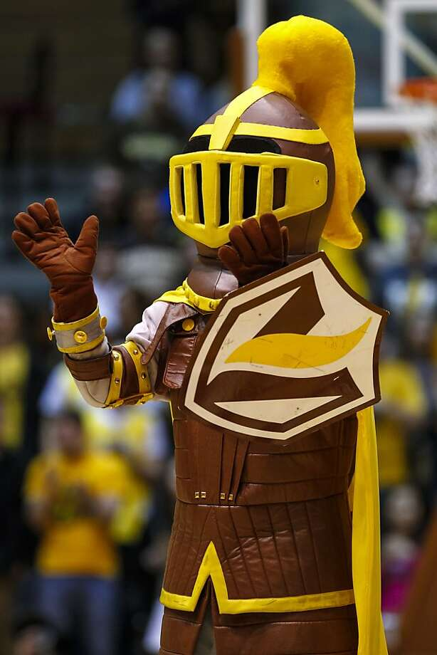 The Valparaiso Crusader moonlights as a cereal box mascot during the offseason. Photo: Michael Hickey, Getty Images