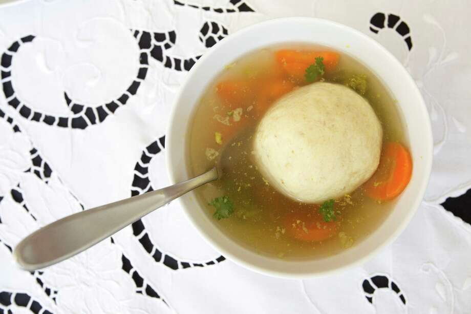 Matzo ball soup. Photo: Eric Kayne, For The Houston Chronicle / © 2013 Eric Kayne