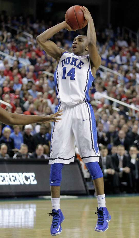 Rasheed SulaimonCollege: DukeHigh school: Strake JesuitHis shooting slump helped explain some of Duke's late-season's struggles. But it appeared he was finally getting his shot back during the ACC tournament along with his usual dogged defensive efforts for the Blue Devils. Photo: Bob Leverone, Associated Press / FR170480 AP