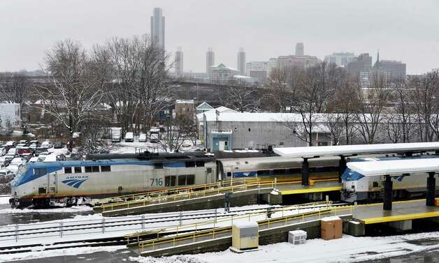 Amtrak trains in the Rensselaer station  Tuesday March 19, 2013.  (John Carl D'Annibale / Times Union) Photo: John Carl D'Annibale / 00021622A