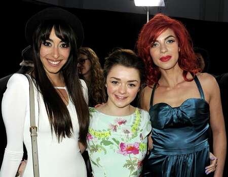 (L-R) Actresses Oona Chaplin, Maisie Williams, and Natalia Tena arrive at the premiere of HBO's 'Game Of Thrones' Season 3 at TCL Chinese Theatre on March 18, 2013 in Hollywood, California. Photo: Kevin Winter, Getty Images / 2013 Getty Images