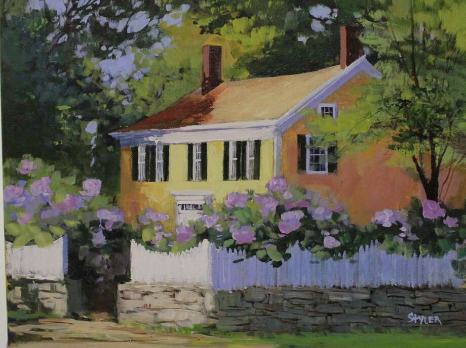 """Yelllow House,"" a painting by Connecticut artist Anda Styler, will be among the works on display at the Junior League of Eastern Fairfield County's Annual Art Show from Friday, March 22, to Sunday, March 24. Photo: Contributed Photo"