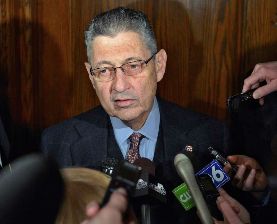 Assembly Speaker Sheldon Silver speaks with reporters following a leaders meeting at the Capitol Tuesday March 19, 2013.  (John Carl D'Annibale / Times Union) Photo: John Carl D'Annibale / 00021631A