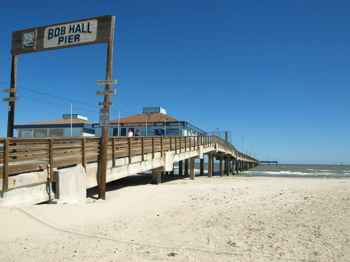 Bob Hall Pier on Padre Island is a tourism hotspot known for its great fishing and surfing near Corpus Christi.