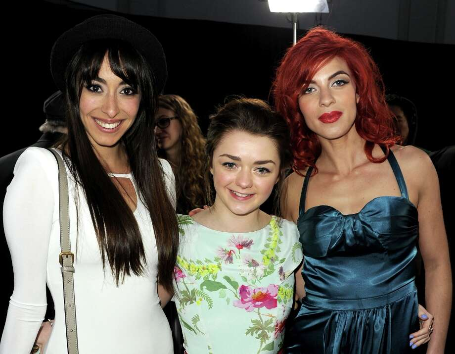 (L-R) Actresses Oona Chaplin, Maisie Williams, and Natalia Tena arrive at the premiere of HBO's Game Of Thrones Season 3 at TCL Chinese Theatre on March 18, 2013 in Hollywood, California. Photo: Kevin Winter, Getty Images / 2013 Getty Images