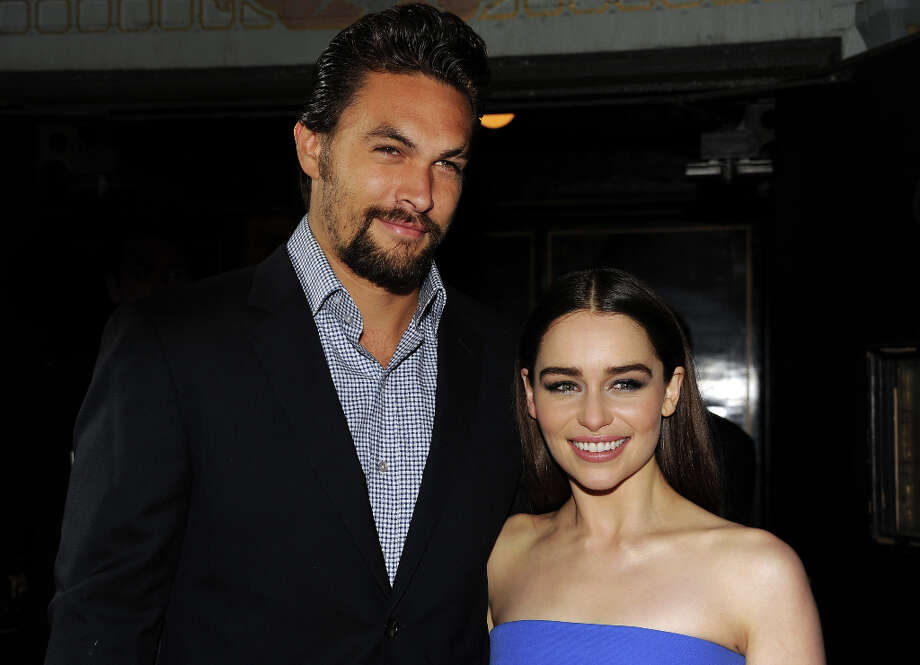 Actors Jason Momoa (L) and Emilia Clarke arrive at the premiere of HBO's Game Of Thrones Season 3 at TCL Chinese Theatre on March 18, 2013 in Hollywood, California. Photo: Kevin Winter, Getty Images / 2013 Getty Images