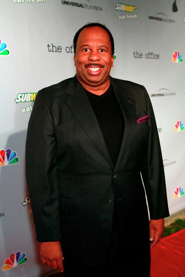 Leslie David Baker (Stanley Hudson) at The Office wrap party at Unici Casa in Los Angeles, CA on Saturday, March 16. Photo: NBC, NBCU Photo Bank Via Getty Images / 2013 NBCUniversal Media, LLC