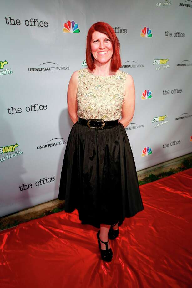 Kate Flannery (Meredith Palmer) at The Office wrap party at Unici Casa in Los Angeles, CA on Saturday, March 16. Photo: NBC, NBCU Photo Bank Via Getty Images / 2013 NBCUniversal Media, LLC