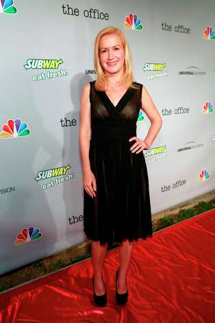 Angela Kinsey (Angela Martin) at The Office wrap party at Unici Casa in Los Angeles, CA on Saturday, March 16. Photo: NBC, NBCU Photo Bank Via Getty Images / 2013 NBCUniversal Media, LLC