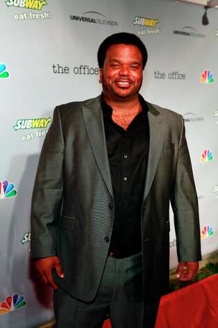 Craig Robinson (Darryl Philbin) at The Office wrap party at Unici Casa in Los Angeles, CA on Saturday, March 16. Photo: NBC, NBCU Photo Bank Via Getty Images / 2013 NBCUniversal Media, LLC