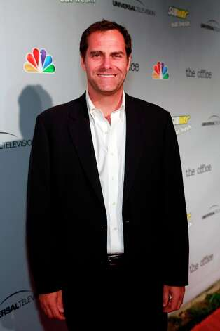 Andy Buckley (David Wallace) at The Office wrap party at Unici Casa in Los Angeles, CA on Saturday, March 16. Photo: NBC, NBCU Photo Bank Via Getty Images / 2013 NBCUniversal Media, LLC