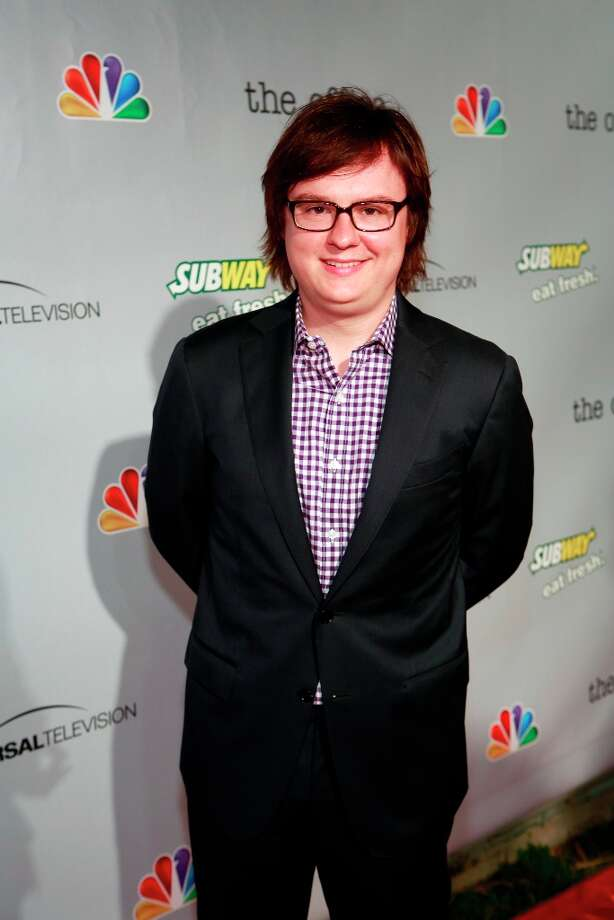 Clark Duke (Clark) at The Office wrap party at Unici Casa in Los Angeles, CA on Saturday, March 16. Photo: NBC, NBCU Photo Bank Via Getty Images / 2013 NBCUniversal Media, LLC