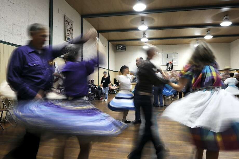 The Caper Cutters Square Dancing Club hosts weekly dance and beginners lessons at St. Paul's Presbyterian Church in San Francisco's Sunset District. Photo: Michael Short, Special To The Chronicle