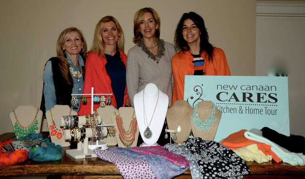 During the annual CARES Kitchen and Home Tour May 9, a variety of vendors will sell their items and donate 15 percent of the proceeds to CARES. From left, Gerrie Musicco of Stella & Dot Janeen Savini, boutique co-chairman; Suzanne Einstein of Suzanne Einstein Collections; and Randi Coughlin of April Marin. Photo: Contributed Photo