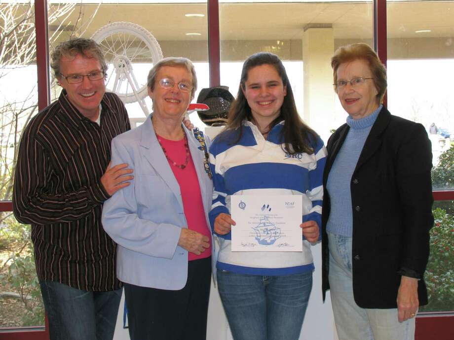 Madison Yancy, a junior at New Canaan High School, received a first-place award in the Daughters of the American Revolution Christopher Columbus essay contest for the Hannah Benedict Carter Chapter, NSDAR, in New Canaan. Photo: Contributed Photo