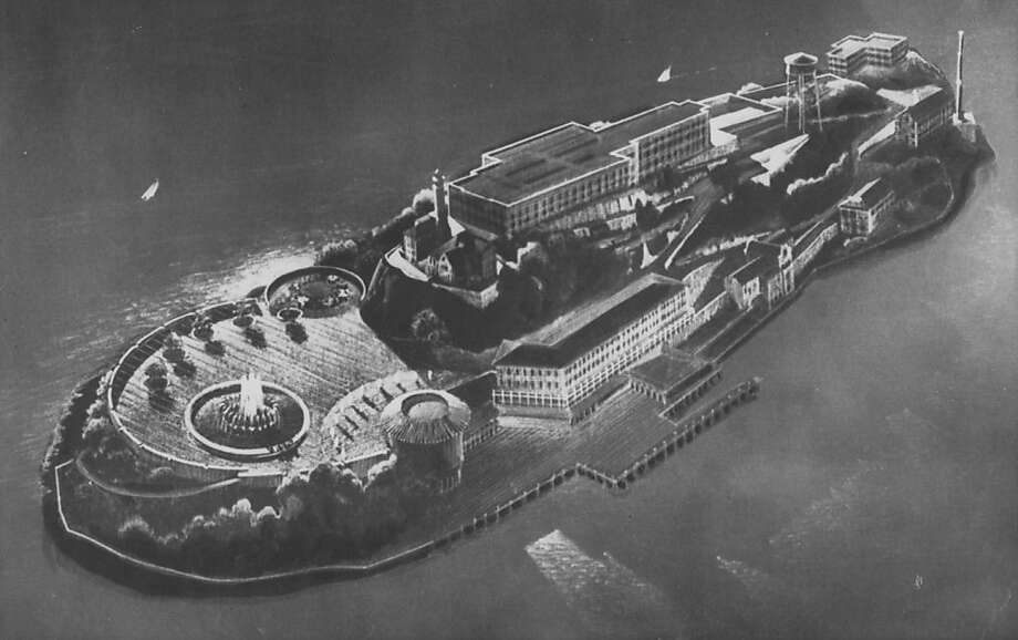 Making Alcatraz Island an oasis of shops, trees and flowers was another proposal when the prison closed in 1963. Photo: Associated Press
