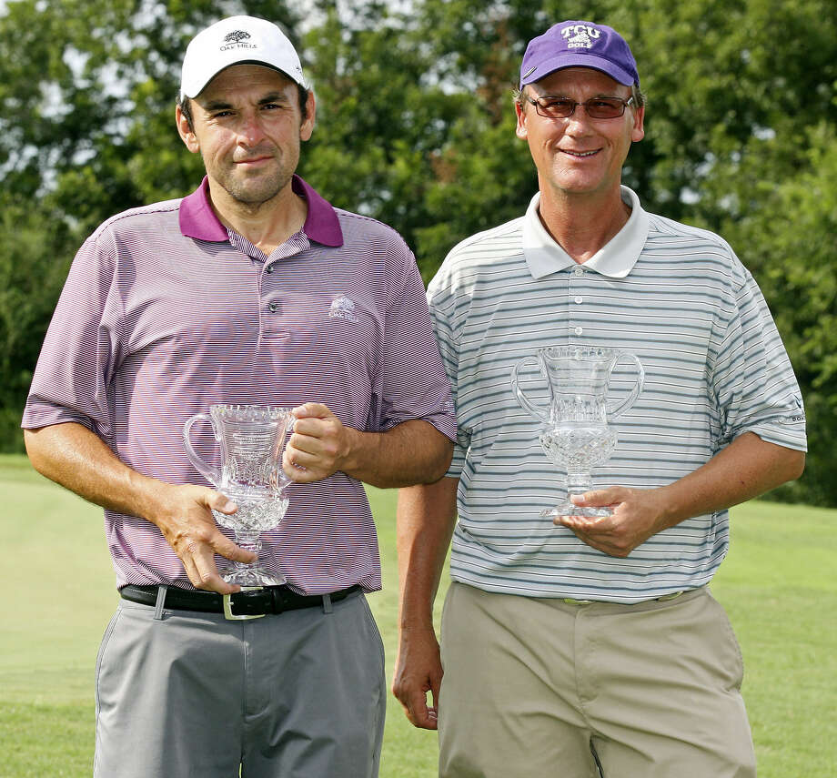 Ed Sanchez (left) claimed the TGA's South Mid-Amateur title over the weekend.