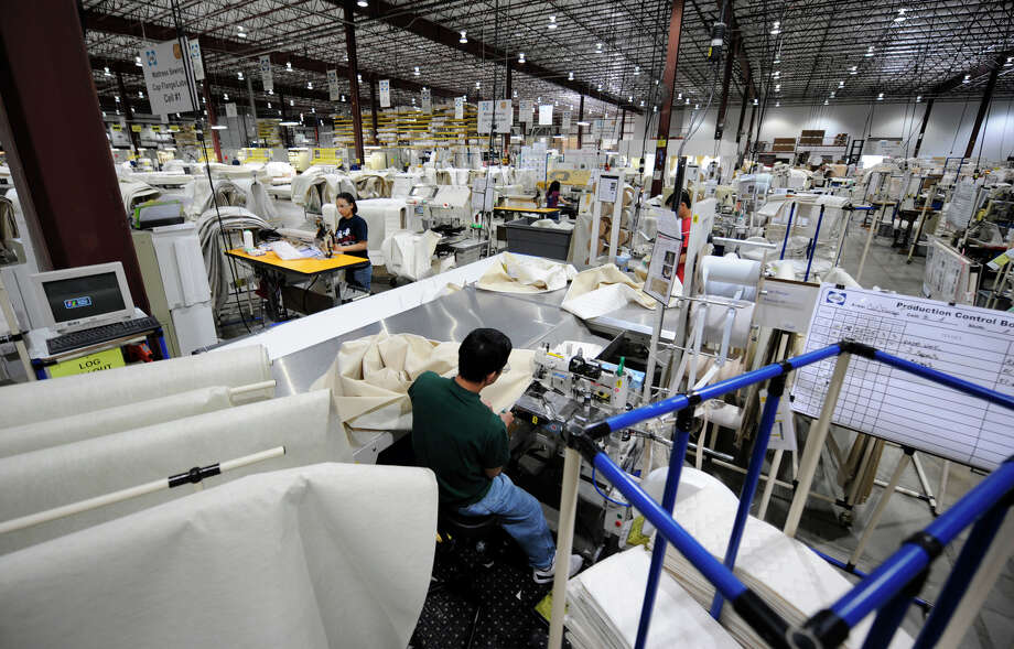 The sewing station April 17, 2008, at the Sealy Corporation production facility in Green Island, N.Y. (Skip Dicktein/Times Union) Photo: SKIP DICKSTEIN / ALBANY TIMES UNION
