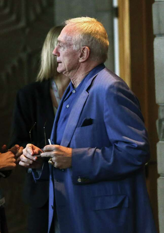 "Jerry Jones told reporters at the owners meetings that Tony Romo soon will get a new contract. ""He's not going to be paid to be a bus driver,"" he said. Photo: Ross D. Franklin / Associated Press"