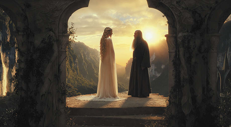 Cate Blanchett as Lady Galadriel and IanMcKellen as Gandalf. Photo: Courtesy Of Warner Bros. Pictures / ©2012 Warner Bros. Entertainment Inc. and Metro-Goldwyn-Mayer Pictures Inc. (US, Canada & New Line Foreign Territories) © 2012 Metro-Goldwyn-Mayer Pictures Inc. and Warner Bros. Entertainment Inc. (All Other Territories)