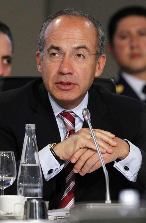 Former Mexican President Felipe Calderón now serves as a fellow at Harvard University.