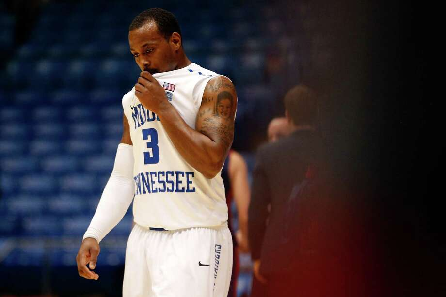 James Gallman #3 of the Middle Tennessee Blue Raiders looks on dejected after they lost to St. Mary's Gaels 67-54. Photo: Gregory Shamus, Getty Images / 2013 Getty Images