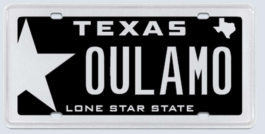 This plate was rejected by the Texas Department of Motor Vehicles.