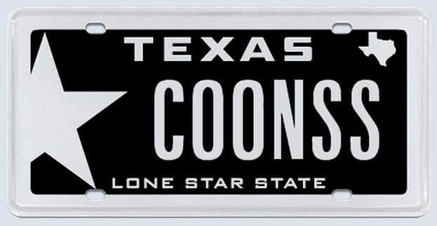 """This plate was rejected by the Texas Department of Motor Vehicles. Applicant's reasoning:""""I drive an '07 Chevy Trail Blazer SS.""""  Photo: MyPlates.com"""