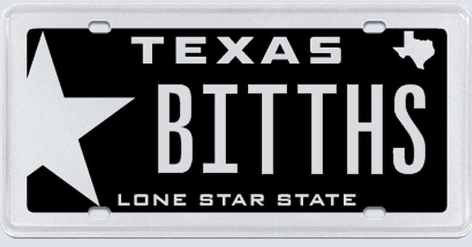 "This plate was rejected by the Texas Department of Motor Vehicles.Applicant's reasoning: ""I am asking on the grounds that I own a 2006 Dodge Viper that I am seeking to enter into car shows and other events. The tag was in no way meant to be derogatory or offense."" Photo: MyPlates.com"