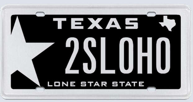 """This plate was rejected by the Texas Department of Motor Vehicles. Applicant's reasoning:""""(Redacted) is really my last name.""""  Photo: MyPlates.com"""