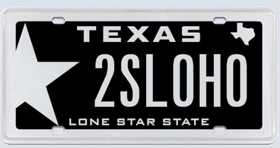 "This plate was rejected by the Texas Department of Motor Vehicles.Applicant's reasoning: ""(Redacted) is really my last name."" Photo: MyPlates.com"