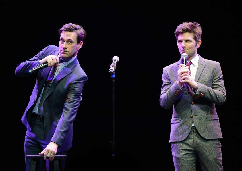 Jon Hamm and Adam Scott, who starred in the 2011 movie 'Friends with Kids.'