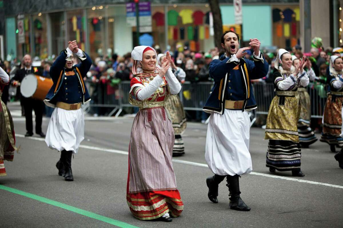NEW YORK, NY - MARCH 16: Parade participants march on Fifth Avenue during the 252nd annual St. Patrick's Day Parade March 16, 2013 in New York City. The parade honors the patron saint of Ireland and was held for the first time in New York on March 17, 1762, 14 years before the signing of the Declaration of Independence.