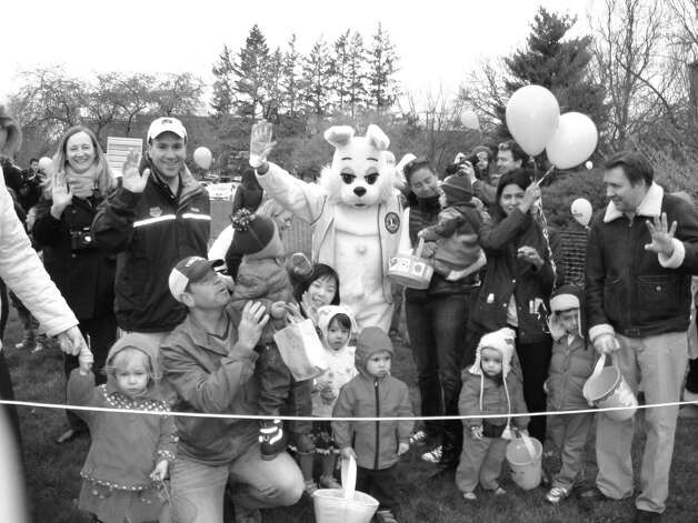 The Greenwich Lions & ShopRite Annual Egg Hunt fundraiser hunts will take place on March 23, at 10:15 a.m., at Roger Sherman Baldwin Park. Tickets $10 at the gate. The day includes a visit from the Easter Bunny, food booths, tattoos, face painting, and visits with Fidelco Guide Dogs. Rain date March 24, at 1 p.m. Photo: Contributed Photo