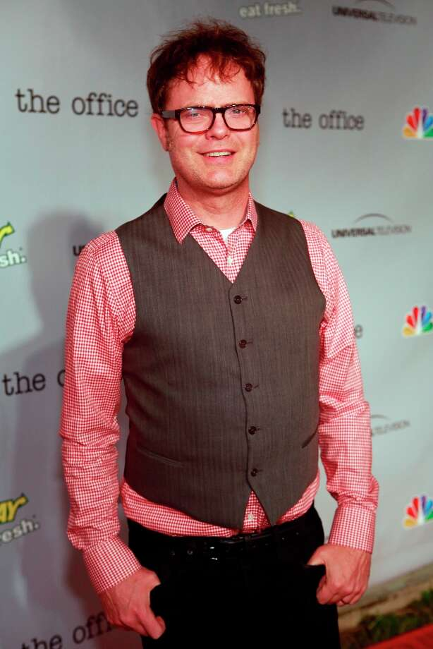 Rainn Wilson (Dwight Schrute) at The Office wrap party at Unici Casa in Los Angeles, CA on Saturday, March 16. Photo: NBC, NBCU Photo Bank Via Getty Images / 2013 NBCUniversal Media, LLC