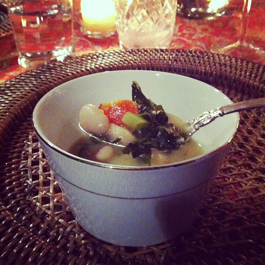 Adrienne Ryherd's white bean kale soup, from Slow Food Beaumont's first dinner last year. Beth Rankin/cat5