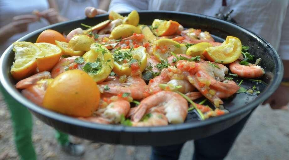 Fresh Gulf shrimp at Slow Food Beaumont's Oysterfest. Beth Rankin/cat5 Photo: Beth Rankin / Beth Rankin