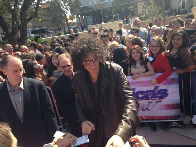 "Judge Howard Stern arrives for ""America's Got Talent"" tapings Wednesday, March 20, 2013, in San Antonio. Photo: Benjamin Olivo/Express-News"