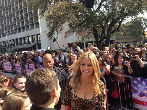 "Judge Heidi Klum arrives for ""America's Got Talent"" tapings Wednesday, March 20, 2013, in San Antonio. Photo: Benjamin Olivo/Express-News"