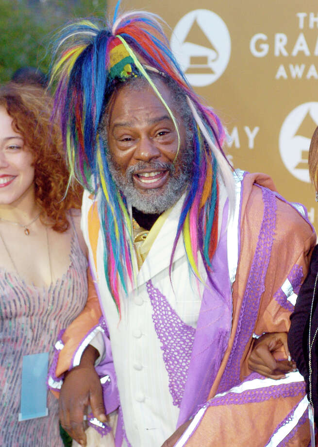 George Clinton arrives at the 46th Annual Grammy Awards, Sunday, Feb. 8, 2004, in Los Angeles. Photo: MARK J. TERRILL, AP / AP